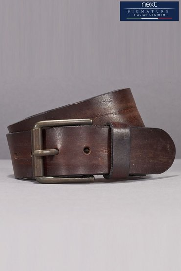 Next Brown Signature Italian Leather Belt