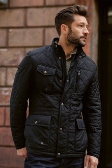Next Navy Quilted Jacket