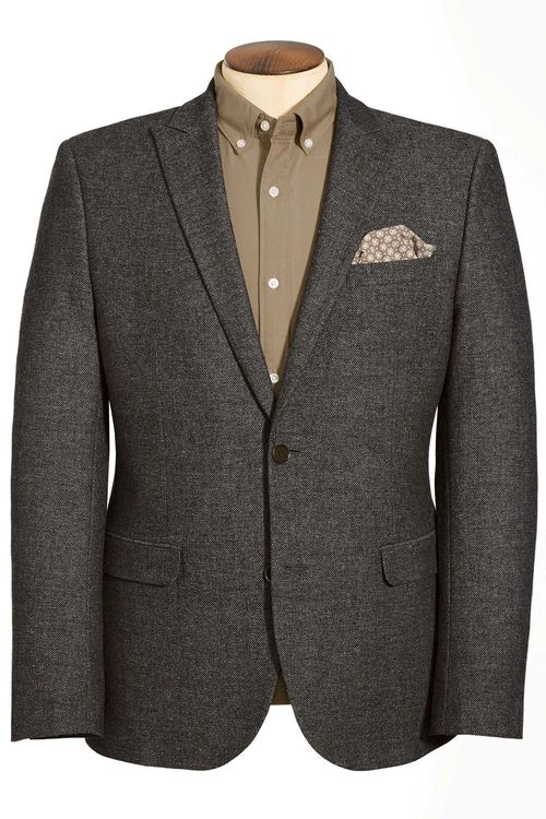 Next Grey Broken Twill Tailored Fit Jacket