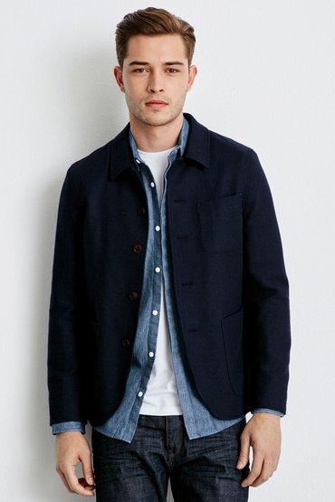 Next Blue Textured Jacket