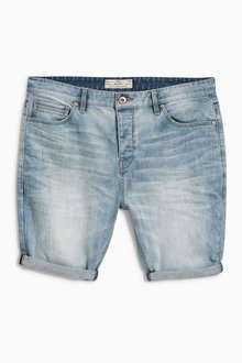 Next Bleach Skinny Premium Denim Shorts