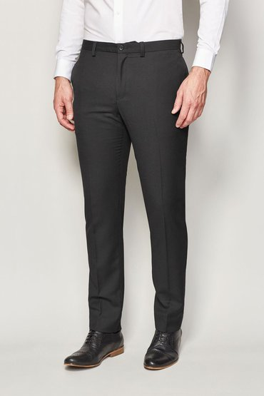 Next Black Regular Fit Trousers