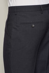 Next Navy Birdseye Regular Fit Trousers