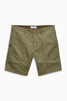 Next Khaki Big Pocket Shorts