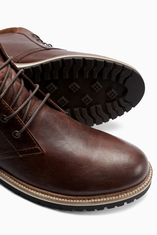 Next Leather Cleated Sole Boot