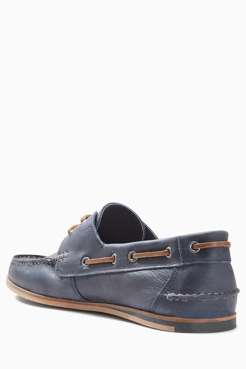 Next Leather Smart Boat Shoe