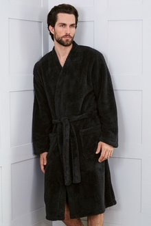 Next Black Fleece Robe