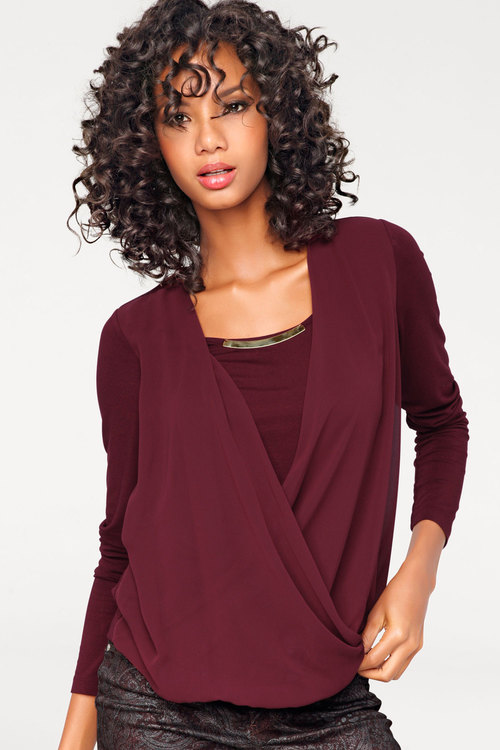 Heine Metal Detail Wrap Blouse