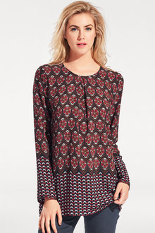 Heine Long Printed Blouse - 166428