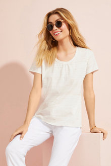 Capture Gather Neck Tee - 166429