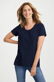 Capture Gather Neck Tee