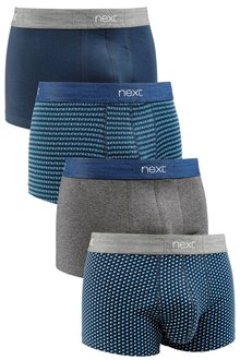 Next Blue Mix Hipsters Four Pack