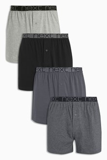Next Grey Loose Fit Four Pack - 166527