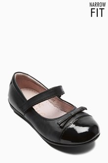 Next Black Narrow Fit Patent Toe Cap Mary Jane Shoes (Older Girls)