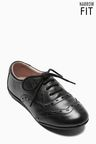 Next Black Narrow Fit Brogues (Older Girls)