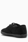 Next Black Lace-Up Plimsolls (Older Girls)