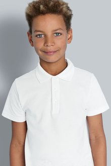 Next White Poloshirts Five Pack (3-16yrs)