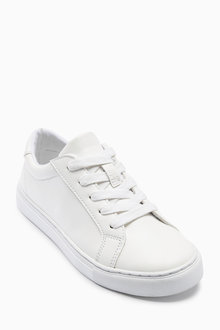 Next White Clean Lace Up Sneakers (Older Boys)