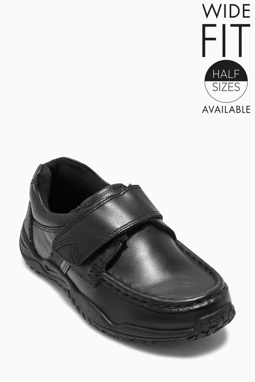 Next Black Sporty Single Strap Shoes (Older Boys)