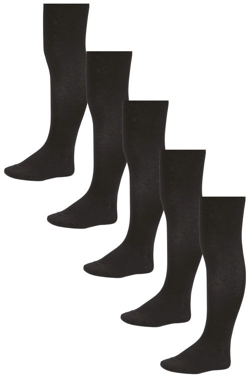 Next Black School Tights Five Pack (3-16yrs)