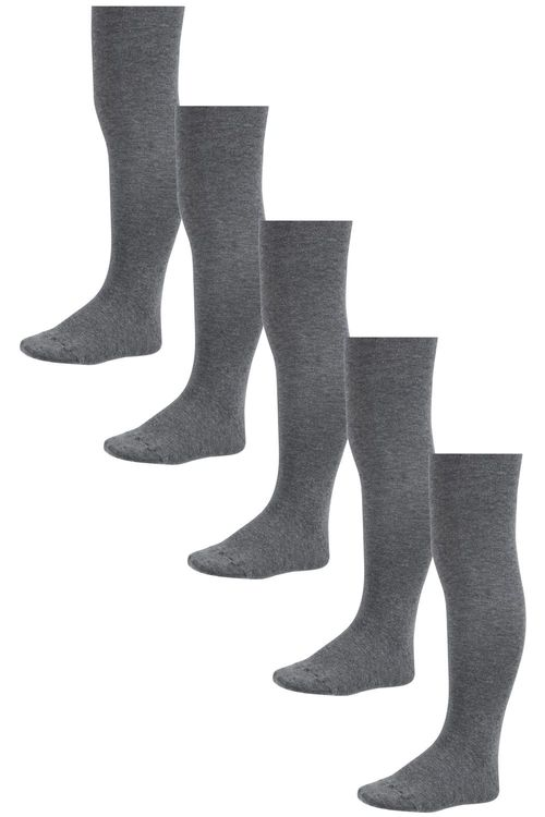 Next Grey School Tights Five Pack (3-16yrs)