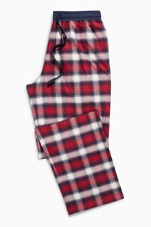 Next Red Check Woven Long Bottoms