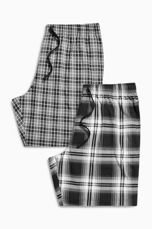 Next Monochrome Check Short Bottoms Two Pack