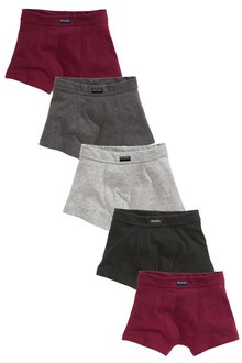 Next Plum/Grey Trunks Five Pack (2-16yrs)