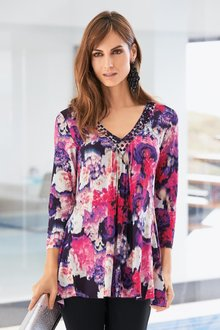 Together V Neck Detail Tunic