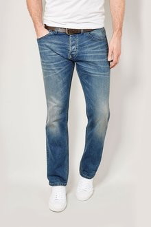 Next Light Blue Belted Jeans With Stretch