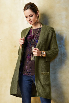 Together Pocket Trim Cardigan