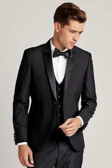 Next Double Breasted Tuxedo Slim Fit Suit: Jacket - 167131
