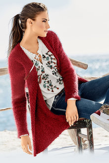 Heine Long Fuzzy Cardigan
