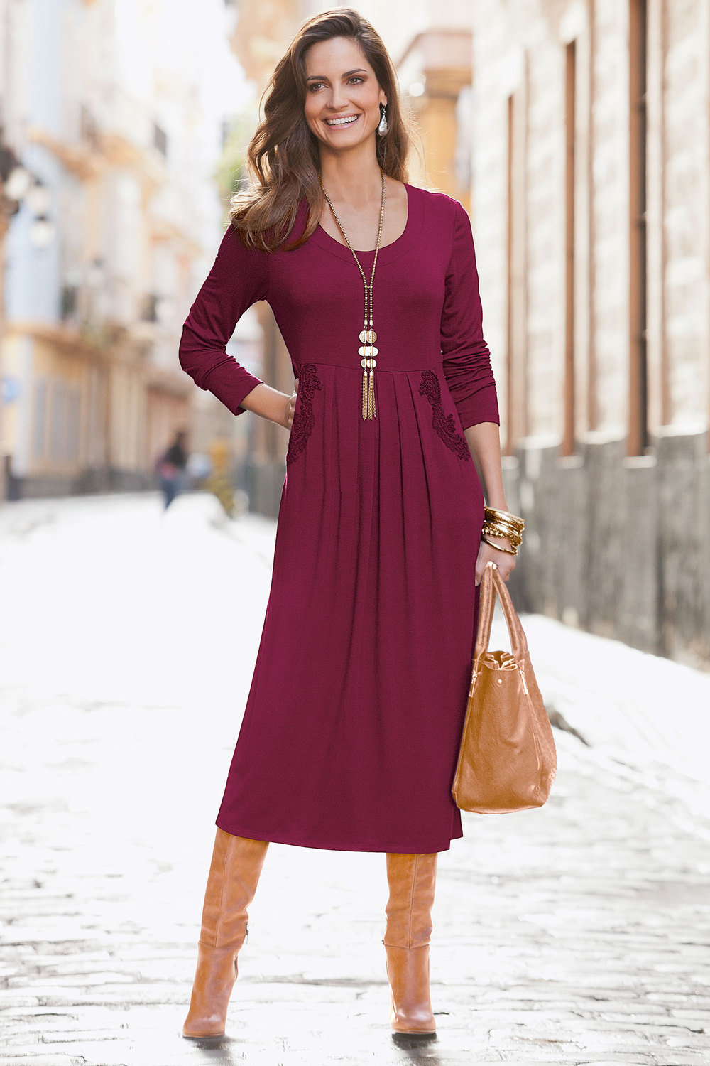 Together Midi Dress With Lace and Pockets Online  5774e221a24f