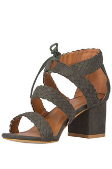 Plus Size - Wide Fit Deon Sandal Heel