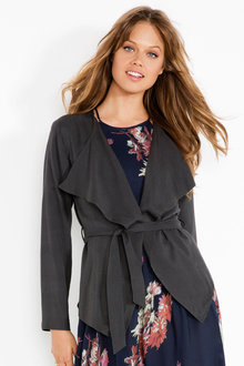 Urban Belted Waterfall Jacket
