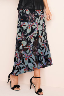 Grace Hill Frilled Chiffon Skirt - 167447