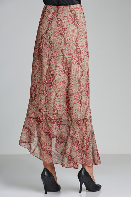 Grace Hill Frilled Chiffon Skirt