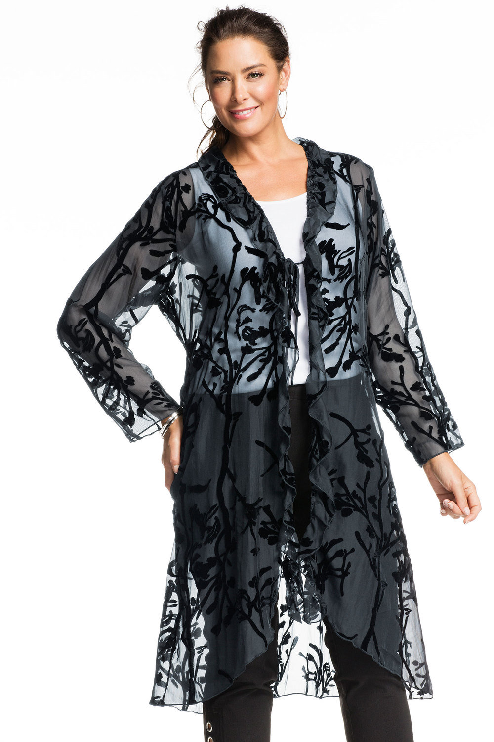 52bce2d450 Plus Size - Sara Burnout Jacket