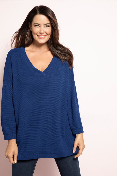 Plus Size - Sara Rib Texture Sweater