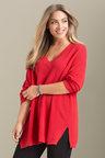 Plus Size - Sara Rib Texture Sweater