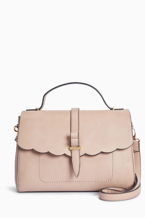 Next Scallop Edge Top Handle Bag
