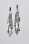 Next Silver Tone Organic Cluster Drop Earrings
