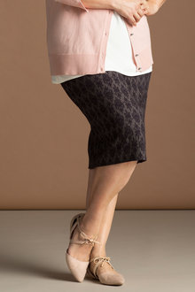 Plus Size - Sara Jacquard Skirt
