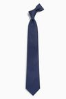 Next Navy Textured Silk Tie