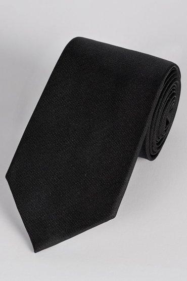 Next Black Textured Silk Tie