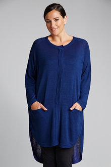 Plus Size - Sara Hi Low Cardigan