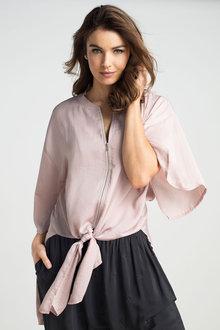 Grace Hill Longline Zip Shirt