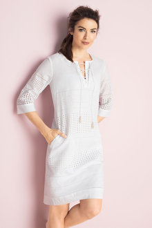 Grace Hill Lace Eyelet Dress