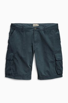 Next Navy Cotton Cargo Shorts